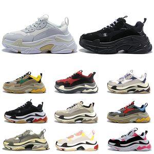 triple s shoes Frauen Designer-Schuhe Turnschuhe Paare 17FW rosa steigende sneaker grau schwarz dad Schuh beiläufige Art und Weise Turnschuhe der weißen Männer