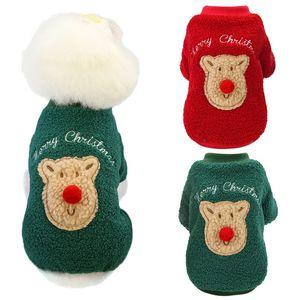 Quente para cães Inverno Pet Dog Jacket Brasão festa de Natal do filhote de cachorro Roupa Para Menor Médio cãe Moda Outfit