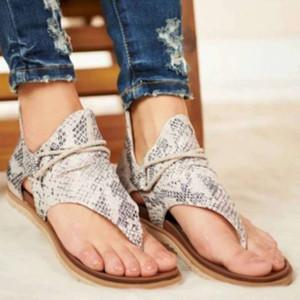 LEOSOXS 2.020 mujeres sandalias de leopardo patrón de gran tamaño Roma sandalias de las mujeres 's antideslizantes zapatos vendedores calientes de las cuñas de verano