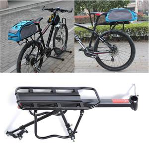 MTB bandeja trasera bastidor del asiento posterior de la bicicleta de equipaje Pannier Carrier Ciclismo Volver Bastidor de aleación de aluminio accesorios de bicicletas