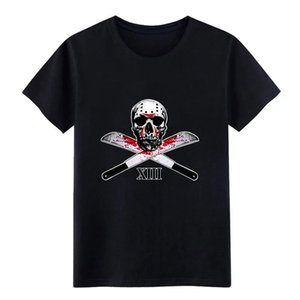 хоккейная маска черепа тенниска мужчины Designs майка S-3XL Новизна Anti-Wrinkle Basic Summer Style Unique рубашку