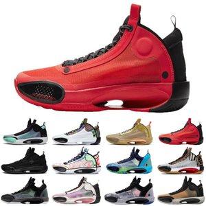 hotsale Patrimoine 34 hommes Jumpman chaussures de basket-ball bleu Void Zoo Noah Bayou Black Boys Cat nfrared 23 ASG formateurs hommes chaussures de sport