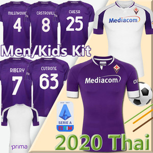 20 21 maillot de football ACF Fiorentina 2020 2021 CUTRONE Fiorentina maillot de pied Ribéry CHIESA PULGAR MILENKOVIC chemise VLAHOVIC de football
