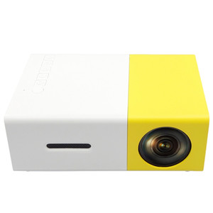 YG300 YG-300 HD LED Portable Projector Mini 400-600LM 1080p Video 320 x 240 Pixel Media LED Lamp Player Best Home Protector Cradle Design