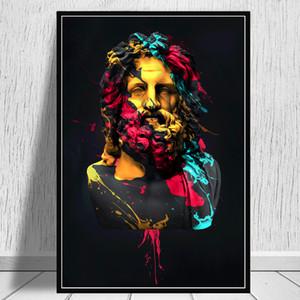 Modular Leinwand HD Druck der griechischen Mythologie Bilderwand Kunst Zeus Skulptur Malerei Wohnkultur Poster für Wohnzimmer mit rahmen
