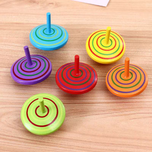 Wooden hand-turned small top decompression adult decompression nostalgic novelty children's toys kindergarten gift boy