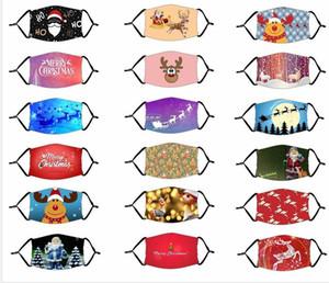 US Stock Designer Erwachsene Kinder Masken Chrismas Party Masken mit Filter waschbar Joker Gesichtsmaske digitale gedruckte Maskenschutz Baumwollmasken