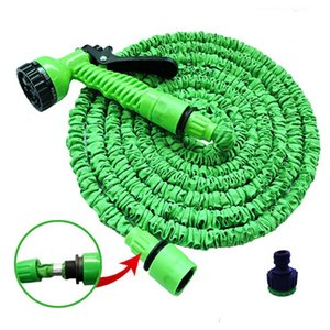 25FT-250FT Expandable Magic Garden Hose Watering Hose 5m - 37.5m Flexible Retractable Irrigation Pipe with Spray Gun