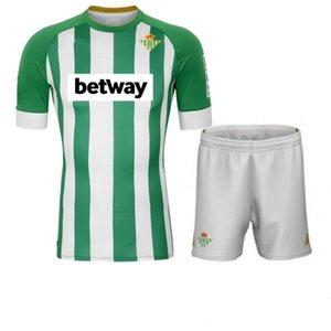 19 20 21 Real Betis maison maillot de football JOAQUIN Boudebouz MANDI BARTRA Tello GARCIA canales noir de pied maillot manches courtes adultes + enfants