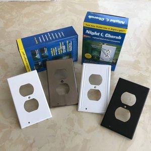 Outlet-Wand-Platte mit LED-Nachtlichter-Kasten-Paket Schalter Nachtlicht-LED Nein Batterien oder Drähte - in wenigen Sekunden installiert