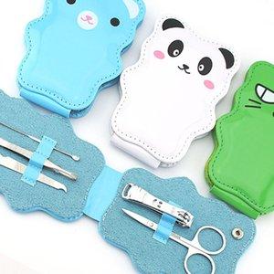 5pcs Nail Cutter смазливая мультфильм набор ресниц Пинцеты Дело Упакованный 5 в 1 Маникюр для ухода за ногтями из нержавеющей стали Scissor славного подарка