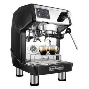 Ticari İtalyan yarı otomatik kahve makinesi 220V Taze Zemin Konsantre Süt Coffee Shop Elektrikli Ev Aletleri