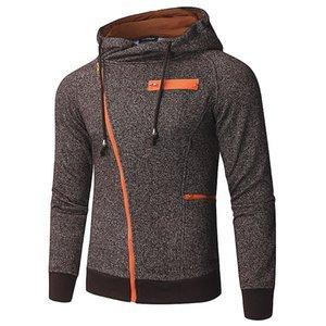 INCERUN Fashion Men Hoodies Long Sleeve Hooded Fitness Zipper Casual Streetwear Workout Bodybuilding Men Sweatshirt Jackets Coat