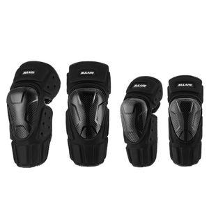 4pcs set Carbon Fiber Elbow Knee Sleeve Pad Breathable Adjustable EVA PE Shell Arm Leg Protective Guard Protector