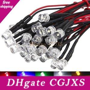 Превосходное качество 5pcs DC12V 20см 5мм Pre Проводная Светодиодная лампа Лампа на светодиодах 5 цветов