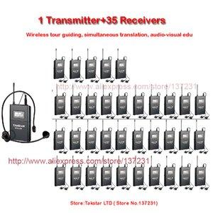 NEW Takstar WTG-500 / WTG 500 UHF PLL беспроводной системы Acoustic Передача 1 передатчик + 35 Приемники + 1 MIC + Головной 35 Наушники