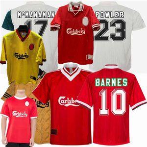 Rétro FOWLER BERGER BARNES McManaman 1994 1995 Redknapp 1996 1993 1997 maillots de football 93/94/95/96/97/98 maison loin 3ème chemise de football rétro