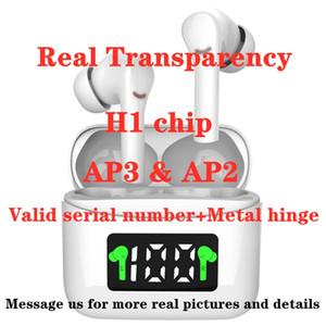 أحدث سماعات المفصلي AP3 الهواء H1chip الشفافية وضع معدن صالح SN استشعار بصري TWS سماعات بلوتوث تحديد المواقع إعادة تسمية حاضن AP2 الموالية