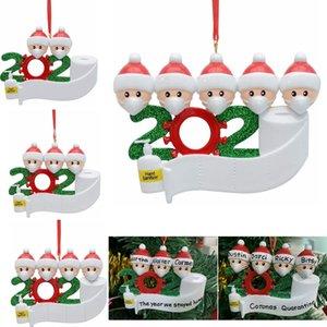 Weihnachten Geburtstage Partei-Dekoration Geschenk Produkt Personalisierte Familie Ornament Pandemic Social Distanzierung Weihnachtsbaum Anhänger FFA4393