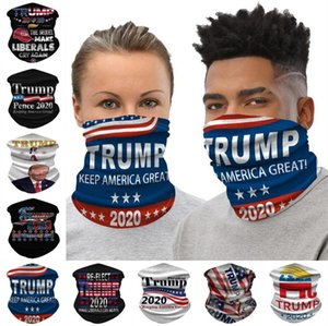 NEW 2020 Trump Designer Face Mask Washcloth American Election Supplies Printing Dustproof Masks Outdoor Appliances Cycling Mask DHL