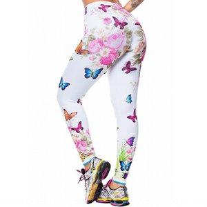 Colorful farfalla peonia pantaloni stretti stretti Yoga digitali stampa le ghette sottili pantaloni di yoga