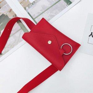 La nueva manera de la PU bolso de la cintura desgaste Pin ropa de sport ropa casual de la mujer con Willow uñas pinbelt anillo de acero