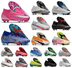 2020 Mercurial Superfly VII 7 360 Elite SE FG Rosa Panther Sancho Ronaldo Neymar Hommes CR7 Garçons Chaussures de football Chaussures de football Crampons US3-11