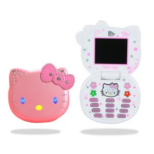 잠금 해제 원본 KUH K688 + 전화 미니 플립 아름다운 작은 여자 아이 여자는 다이아몬드 쿼드 밴드 듀얼 SIM 카드 귀여운 세포 휴대 전화를 moblie