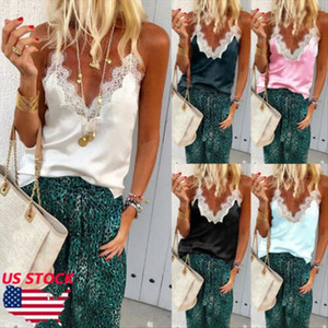 tank top New Women Summer Lace Vest Top Sleeveless Blouse Casual Tank Tops T Shirt Drop Shipping