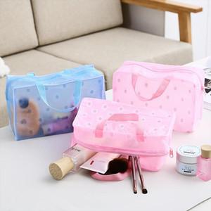 Women Travel Transparent Cosmetic Bag Zipper Trunk Makeup Case Make Up Bags Handbag Organizer Storage Pouch Toiletry Wash Bag