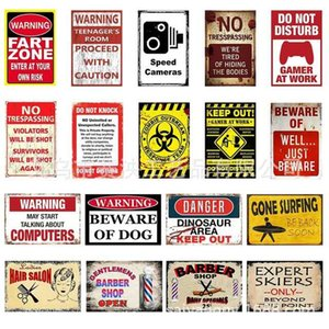 WARNING Slogan Private customized signs Home Decor Metal Tin Sign Bar\Pub\Hotel Decorative Metal Sign Art Painting Metal Plaque 0810.