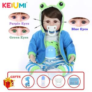 KEIUMI Горячая продажа Reborn Детские Мягкая силиконовая ткань тела Реалистичная кукла Новорожденный игрушка с Жираф Детский день рождения Подарки C0924