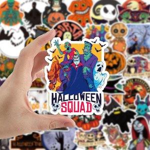 1set / 50pcs Halloween Theme Christmas Fright Night Стикеры Личность украшения праздника граффити наклейки горячих Хэллоуин наклейки