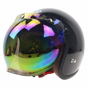 Bubble Shield Open Face Helmet козырек шлема мотоцикла Bubble Visor Casco Moto объектива Capacete Мотоцикл Скидка мотоциклетный шлем Дис q77x #