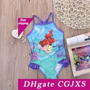 Glane Mermaid Kız Bebek Çocuk Mayo Mayo Bikini Tankini Mayo Yüzme Kostüm