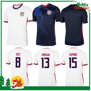 2020 Amérique Soccer Jersey USA 2021 Home away LLOYD RAPINOE KRIEGER États-Unis Hommes Football Lavelle Shirt