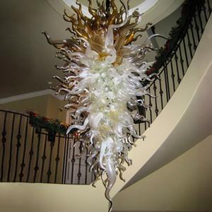 Moderne Led Lustres Ampoules à LED Éclairage 72 pouces Gris abat-jour blanc Lampe suspendue Lampe Luminaires pour Foyer