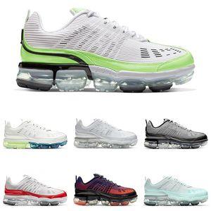 VaporMax 360 mujeres de los hombres zapatos para correr blanco nieve Fantasma Verde burbuja hombre blanco Paquete de plata metálico de fotones entrenador zapatillas