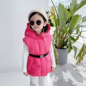 2020 nuove neonate Giù Gilet bambini moda inverno gilet caldo tuta sportiva del rivestimento casuale per le ragazze scherza Parka vestiti incappucciati