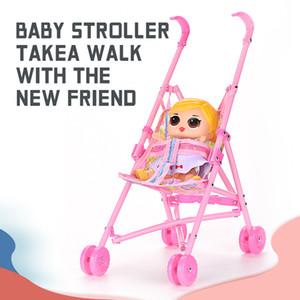 Simulation Mobilier bébé Poupée landau Rocking Chair bébé Play House Pretend Toy Kid Jouer cadeau