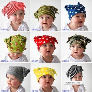 chapeau bébé enfant dessin animé enfants corne de bœuf nouée casquette pull-over tricoté