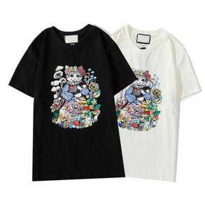 20ss moda magliette per le donne degli uomini T-shirt con le lettere Animali Estate novità di T-shirt Uomo Donna T-Shirts vestiti 2 colori formato S-2XL