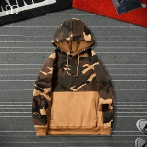 Men Camouflage Hoodies Fashion Brand Casual Hip Hop Mens Fleece Hoodies Military Pocket Full Sleeve Hooded Pullover Male Clothes CX200723