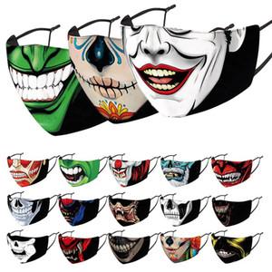 Halloween de cara diseñador mujeres de los hombres de la mascarilla máscaras tío Máscara fumadores máscara del payaso de la cabeza del cráneo de impresión en 3D en stock
