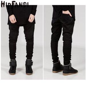 HIPFANDI 2020 uomini caldi dei jeans di marca Distressed elastico sottile strappato pantaloni in denim jeans Biker uomini Uomini marca Classic Hiphop di