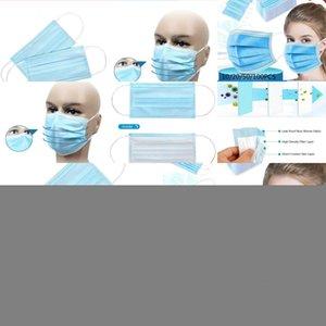 100/50 / 30шт лица Descartável Antipoeira De Proteção Pessoal 3ply Ear Loop LIYZU J1OM
