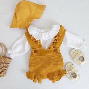 Newborn Baby Girl Ropa de punto Baby Boys Rompers Marca Mono Jumpsuit Autumn Girls Rampers Algodón Niña Niña Romper SPPS #
