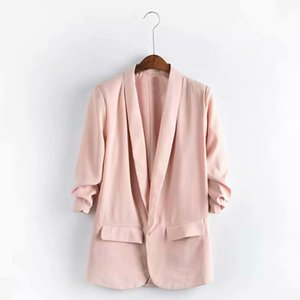 Women's Jacket 2020 Autumn Top Quality High Street Elements Casual Fashion Female Suit Style Windbreaker 8-Color Available Size : XS-XL
