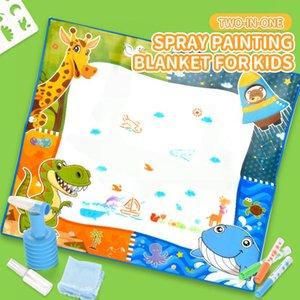 2 в 1 ребенок игрушки головоломки рисования настольные игрушки напыление одеяло для малыша 2020 горячий продавая Развивающие игрушки подарка ребенка