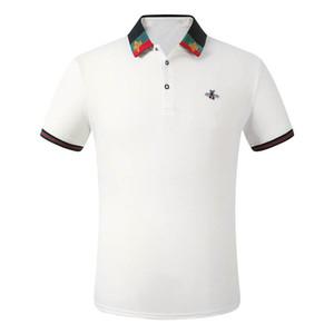 Camicia da ricamo per uomo classico stile classico di lusso in cotone Mens Designer T-Shirt Bianco Black Grey Polo Shirt maschio M-3XL